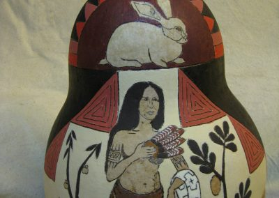 Pocahontas 2017 gourd by Ethan Brown